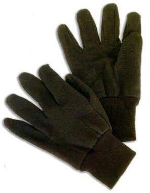 Workforce Industrial Brown Jersey Gloves, Small Size - 12 Per Package