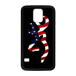 CMGOODS Cool American Flag Browning Cutter Case Cover Sleeve Protector for Phone Samsung Galaxy S5 (Laser Technology) Kimberly Kurzendoerfer