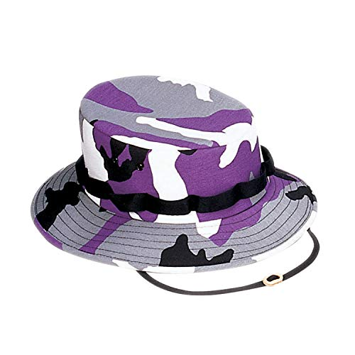 Rothco Digital Camo Boonie Hat, Ultra Violet Camo, Small