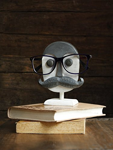Store Indya Eyeglass Holders Wooden Spectacle Holder Display Stand Home Decorative (Grey and - Different Face Eyeglasses Shapes For