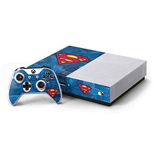 Superman Xbox One S Console and Controller Bundle Skin - Superman Logo | DC Comics X Skinit Skin (Superman Xbox One Game)