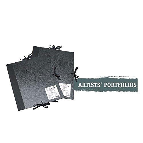 Daler Rowney cachet black classic folio flaps A2 art work portfolio case 471310200