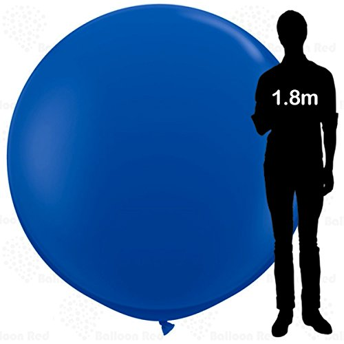 6 ft / 72 Inch Giant Jumbo Round Latex Climb-in Balloon (Premium Quality), Pack of 1, Blue