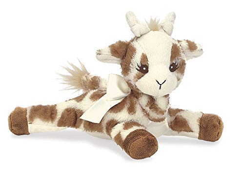 A Baby Giraffe Rattle - Bearington Baby Patches Plush Stuffed Animal Giraffe with Rattle, 8 inches