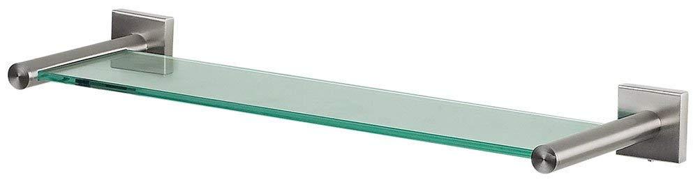 Zum kleben und Bohren Spirella Wand-Glasablage NYO Badezimmerablage Ablage Wandablage f/ür Das Badezimmer aus Glas und Edelstahl 40cm