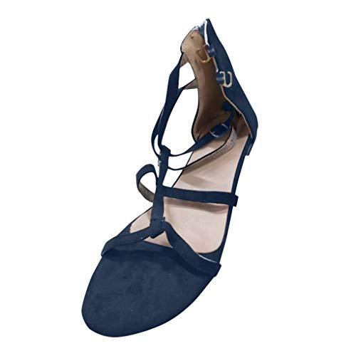 (DDKK sandals Hot Sales Womens Fashion Casual Strappy Thong with Open Toe Ankle Strap Sandal Farah Single Buckle Platform Dress Sandal Bottom Roman Bond Studded Block Heel Dress Sandal)