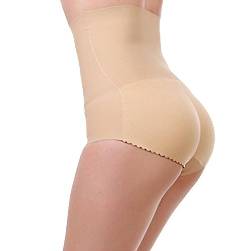 [Women's Seamless Hip Lifter Butt Enhancer Breathable Tummy Control Panties #2 BGE L] (Padded Underwear)