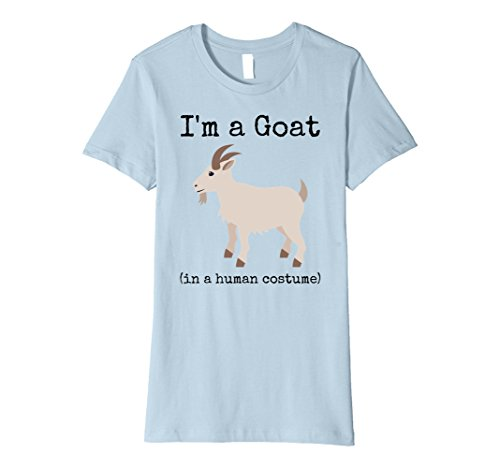 Womens I'm a Goat in a Human Costume Funny Goat T-Shirt XL Baby Blue - Baby Goats In Costumes