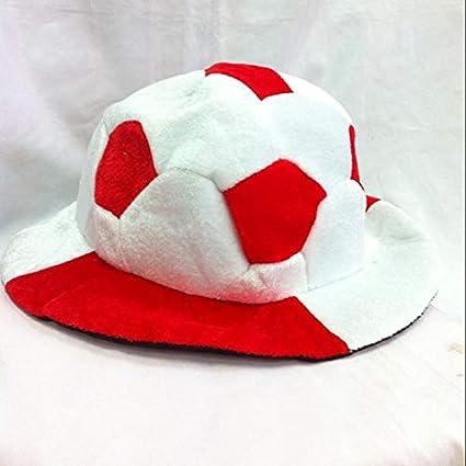 b5922fdd7d2 HATCHMATIC World Soccer Football Caps Hats Football Fans Headwear  Cheerleading Team Props Soccer Team Sports Headwear Souvenir  3England   Amazon.in  Sports