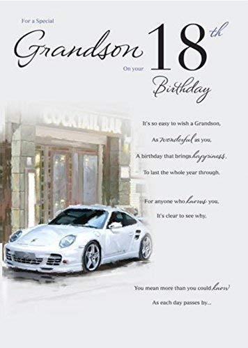 Special Grandson 18th Birthday Card Amazoncouk Kitchen Home