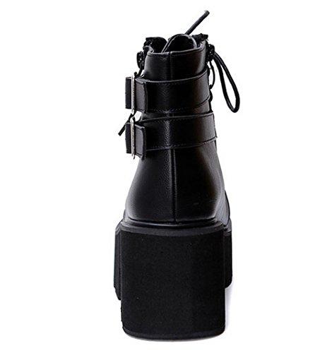 Sandales Femme Noir Inconnu Compensées 1TO9 Mmsg00383 EIw6qT7