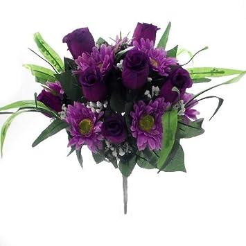 Grand Bouquet De Fleurs De 36 Cm De Luxe En Soie Artificielle Roses