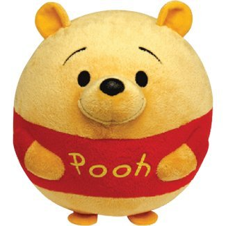 Pooh Plush Beanie (Ty Beanie Ballz Winnie The Pooh Plush, Bear, Large)