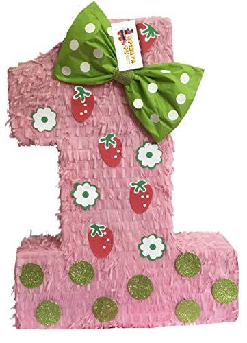 (APINATA4U Strawberry Theme Number One Pinata 23