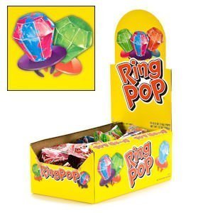 ORIGINAL RING POP. Assorted flavors. Individually wrapped. (24pcs per display unit) (Rings Sucker)