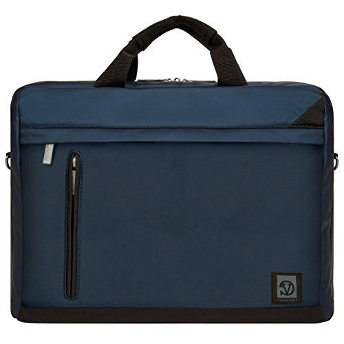 Adler 15.6 Inch Briefcase, 2 in 1 Laptop Messenger Shoulder Bag [Navy Blue] for 14