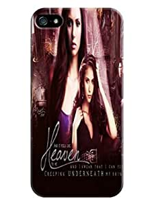 Air cushioned bumper tpu case with scratch resistant clear back panel for iphone5/5s of The Vampire Diarie in Fashion E-Mall