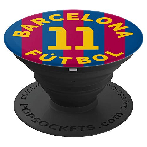 PopSockets: Barcelona Football Soccer Fan Futbol - Number 11 - PopSockets Grip and Stand for Phones and Tablets
