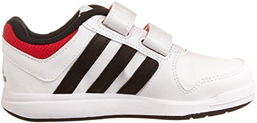 adidas Performance LK Trainer 6 M20, Unisex - Kinder Hallenschuhe Weiß (Ftwr White/Core Black/Scarlet)