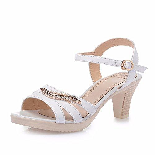 No. 55 Shoes Ruvido e Sandali di Strass Lady in Estate con Centinaia di Impermeabile Scarpe Casual,US8.5/EU39/UK6.5/CN40,Bianco