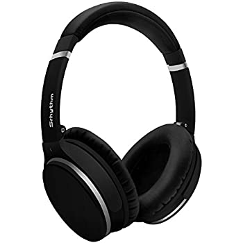 Wireless Active Noise Cancelling Headphones Over Ear, Srhythm Foldable Deep Bass Hi-Fi Stereo Bluetooth Headset with Mic and Wired Mode for TV, PC, Cell Phones (16h Playtime, Low Latency)