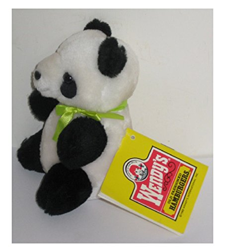 Vintage Wendy's 1988 Stuffed Plush Toy World Wildlife Fund WWF ~ Endangered Species PANDA Bear 5