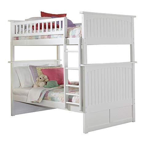 Atlantic Furniture Nantucket Bunk Bed, Twin Twin, White