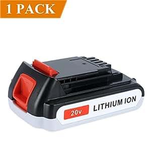 Biswaye 2.0Ah 20V Lithium-Ion Replacement Battery for Black & Decker 20-Volt MAX LBXR20 LB20 LBX20 LBXR2020-OPE LBXR20B-2 LB2X4020 Cordless Tool Battery