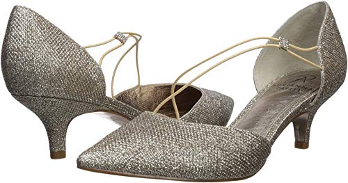 Adrianna Papell Women's LACY Pump, Platino, 5.5 M US