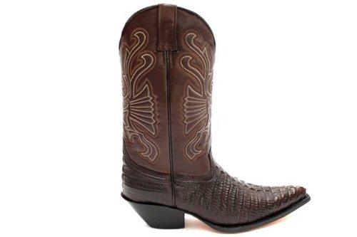 42 Cowboy Boots Eu Talla Carolina Brown 8 Uk Grinders qFRgH