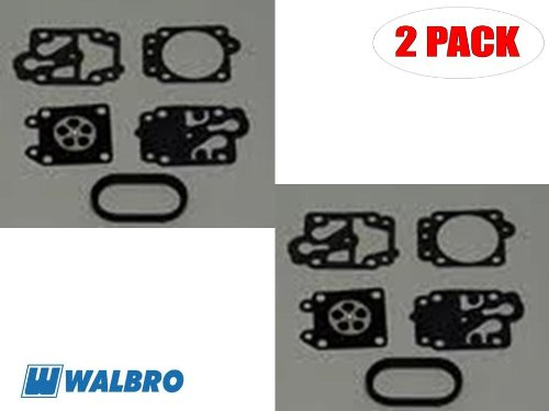 Walbro D20-WYA Gasket&Diaphragm Kit Red Max BCZ2500DL/S/GZ25N/GZ25N-10 (2 Pack)