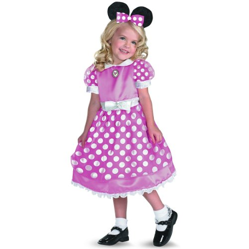 Minnie Mouse Costume Size 2t (Clubhouse Minnie Mouse Pink Toddler Costume - Toddler Small)