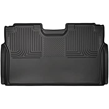 Husky Liners 2nd Seat Floor Liner (Full Coverage) for Select Ford F150 Models - rubberized material (Black)