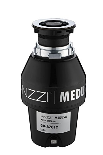 1/2 HP Garbage Disposal - Black - Medusa Series GD-AZ012 - ANZZI by ANZZI