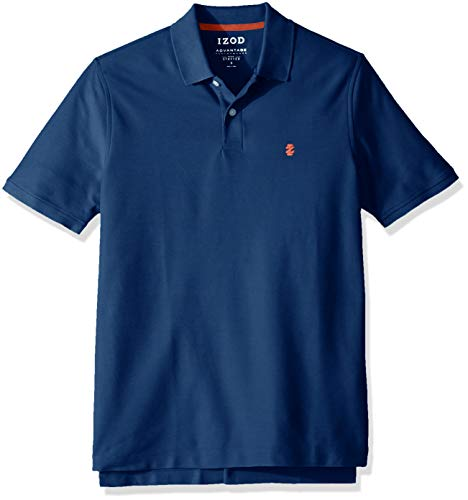 IZOD Men's Advantage Performance Short Sleeve Solid Polo, True Blue, Medium ()