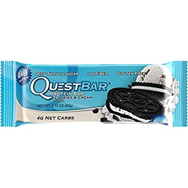 QuestBar Protein Bar, Cookies & Cream (Box of 12)