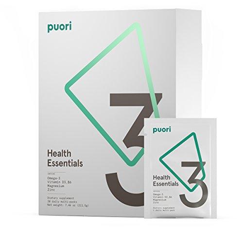 Puori3 Multipack O3+M3+D3 [ Omega 3 Organic Softgels, Vitamin D3 Gelcaps, Magnesium Caps ] 210 Capsules [ 60 Omega3, 60 VitaminD3, 90 Mg + Zn + B6 ] by Puori