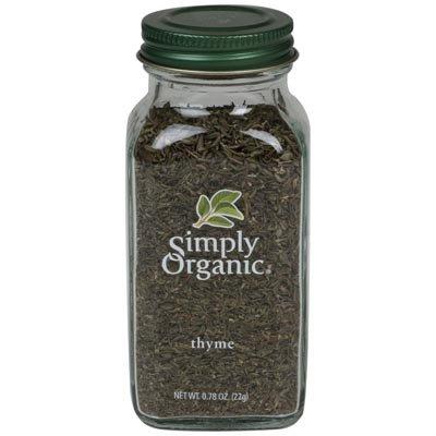 Simply Organic Thyme Leaf .78 Oz (Pack of 3)