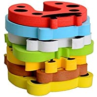 Party Propz (Set of 5) Door Stopper Cartoon for Kids and Baby Safety Pinch Guard and Accidental Door Lock Protection for Baby Safety, Random Design and Colour