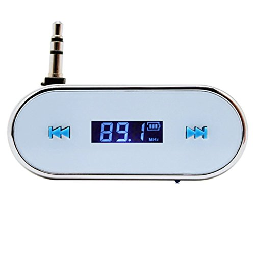 TopOne 3.5mm White Car Wireless FM Transmitter For iPhone 5S 5C 4S iPod Samsung Galaxy S4 MP3 (Galaxy S4 Transmitter Fm)