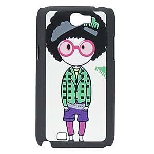Glasses Cartoon Girl Pattern Hard Case for Samsung Note 2 N7100