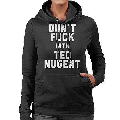 Women's Women's Black Ted with Fuck Nugent Dont Sweatshirt Hooded Coto7 Coto7 Coto7 qHX7Sw8