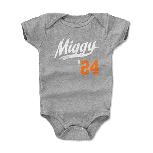 - 500 LEVEL Detroit Baseball Baby Clothes, Onesie, Creeper, Bodysuit - 6-12 Months Heather Gray - Miguel Cabrera Miggy Players Weekend Script O WHT