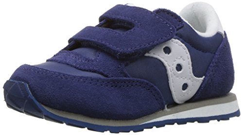 Saucony Kid's Baby Jazz H&L-K Sneaker, Blue, 7.5 Wide US Toddler (Best Shoes For Toddlers With Wide Feet)