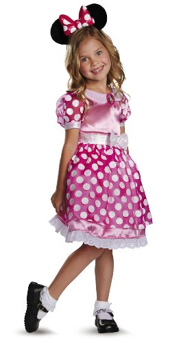 Disney's Mickey Mouse Clubhouse Pink Minnie Mouse Light-Up Motion-Activated Toddler Costume, Medium/3T-4T