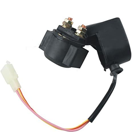 410d4Ki6nkL._SY463_ amazon com solenoid starter relay for chinese made 50cc 70cc 90cc Ford Starter Relay Wiring Diagram at creativeand.co