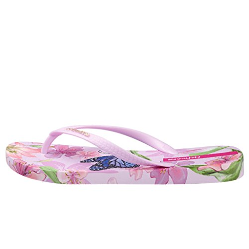 Hotmarzz Chanclas para Mujer Mariposa Floral Sandalias Playa Verano Zapatillas Piscina Flip Flops Rosa