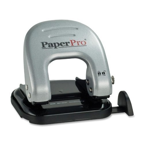 Two Punches ((Ship From USA) ACI2310 - Paperpro Two-Hole Punch / Advanced asymmetrical dies make punch 50% easier to use.,Advanced dies make punch 50% easier to use.,Punches cleaner and more easily, without jammi)