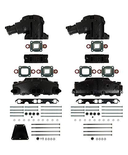 (Barr Manifold Exhaust Kit for Mercruiser V-8 Dry Joint 5.0-Liter and 5.7-Liter with 14° Riser & 3