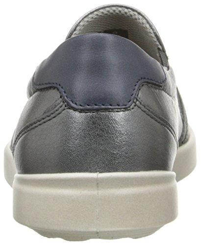 Ecco Dames Aimee Sport Slip Op Fashion Sneaker Dark Shadow Metallic / Marine